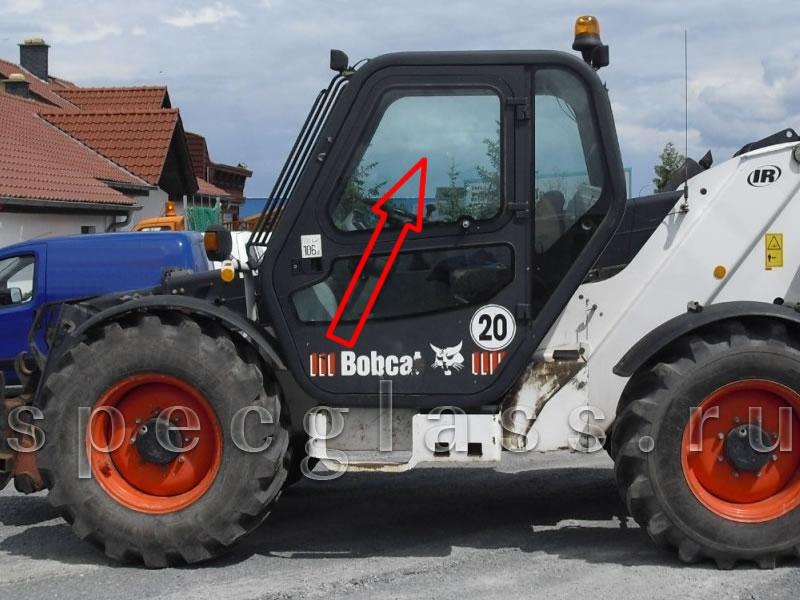 Стекло дверное левое верхнее для Bobcat T3571 / T3571L