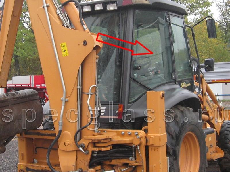 Стекло кузовное правое для Case 580R / 580T / 580SR / 695SR