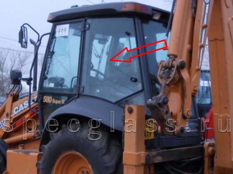 Стекло кузовное левое для Case 580R / 580T / 580SR / 695SR