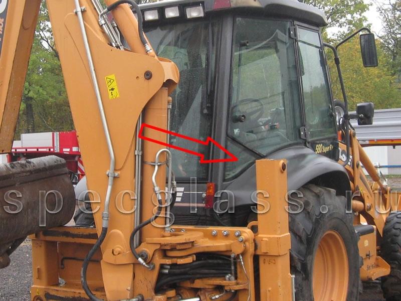 Стекло кузовное нижнее правое для Case 580R / 580T / 580SR / 695SR
