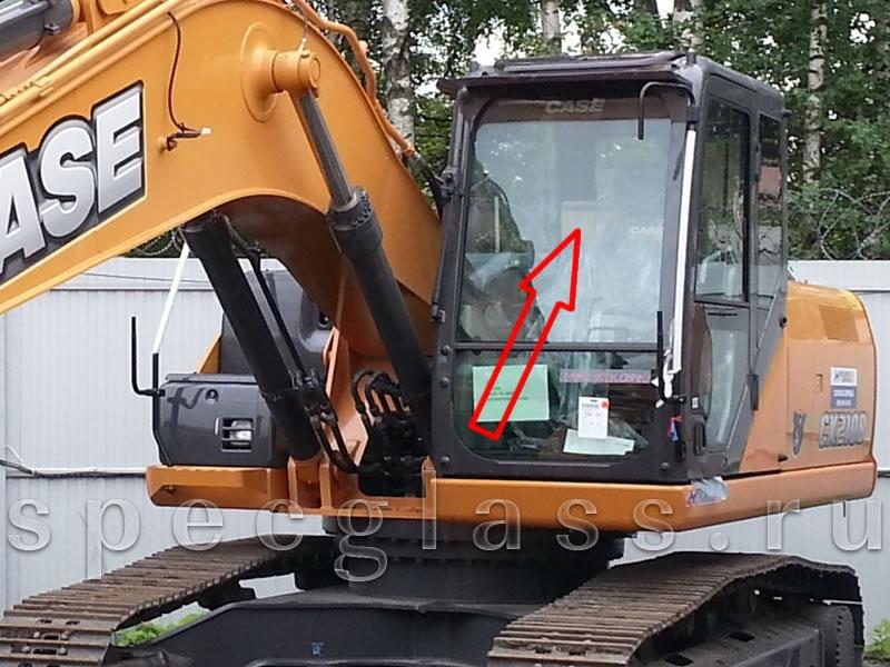 Стекло лобовое верхнее для Case CX210B