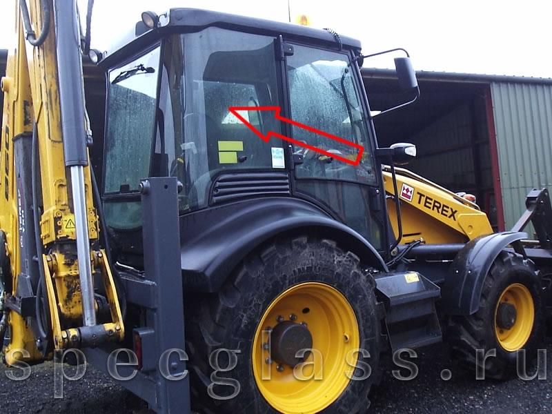 Стекло кузовное правое для Terex 760 / 820 / 860 / 880 / 970 / TLB825