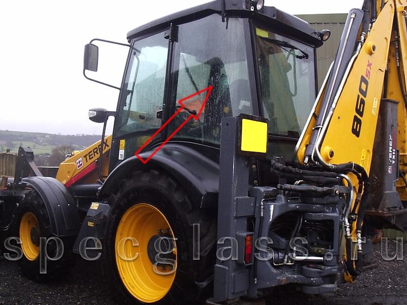 Стекло кузовное левое для Terex 760 / 820 / 860 / 880 / 970 / TLB825