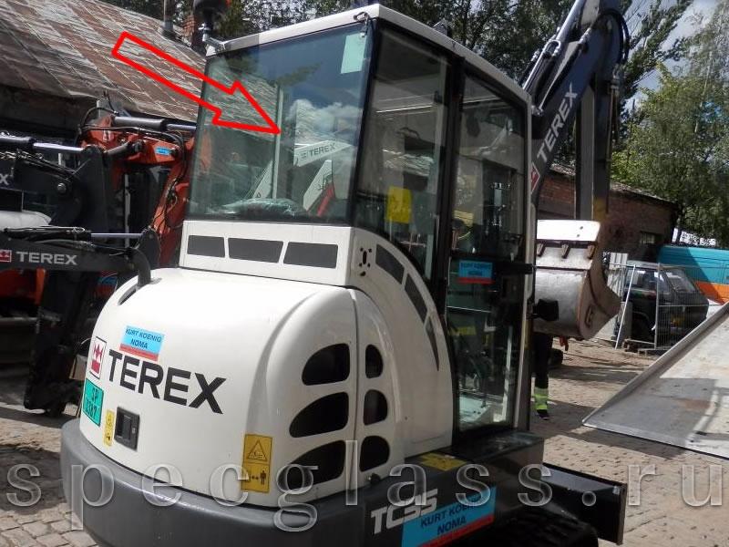 Стекло заднее для Terex TC35