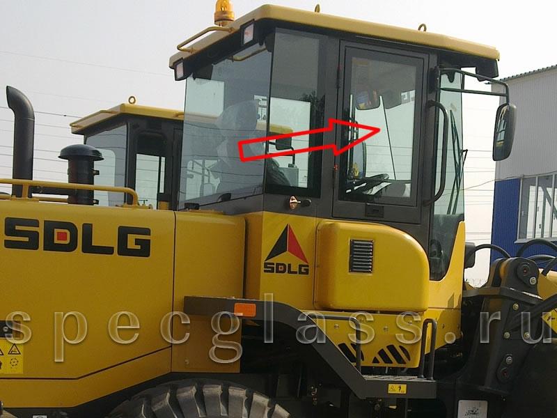 Стекло дверное правое для SDLG LG936 / LG953 / LG968 / LG936L / LG946L / LG956L / LG953N / LG95X-01
