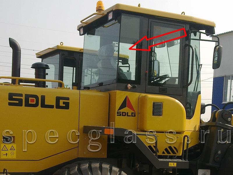 Стекло заднее правое для SDLG LG936 / LG953 / LG968 / LG936L / LG946L / LG956L / LG953N / LG95X-01