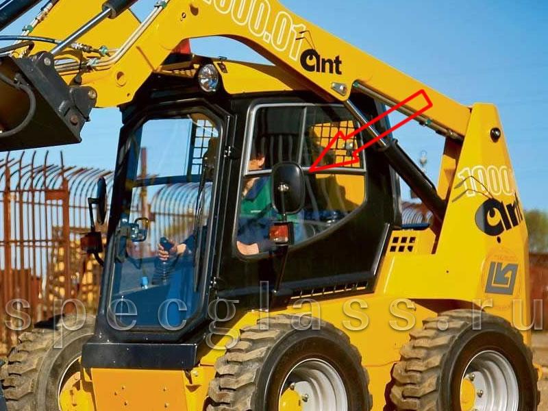 Стекло боковое левое (в сборе) для ANT 1000 2011- г.в.