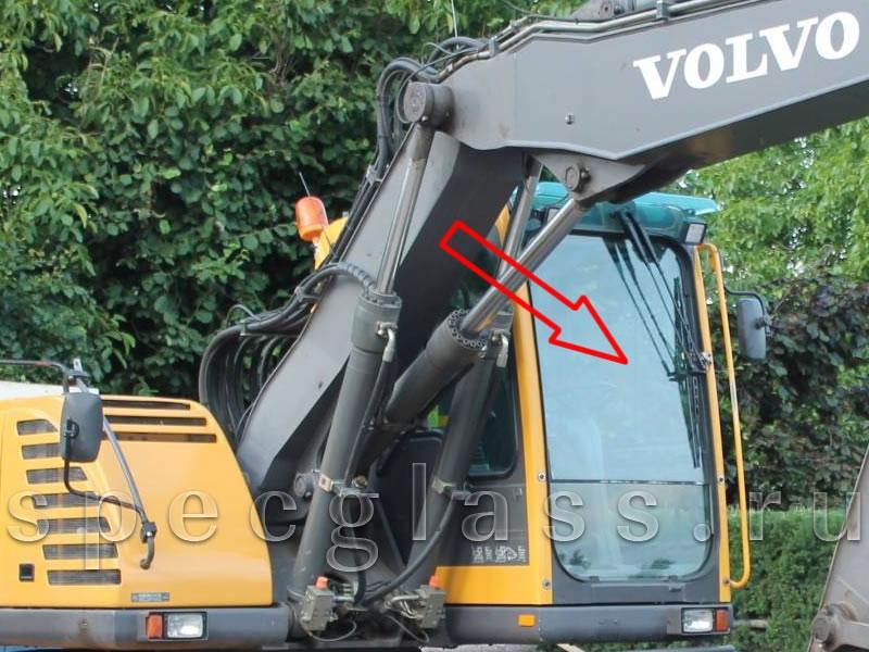Стекло лобовое верхнее для Volvo EW140B / EW145B / EW160B / EW180B / EC180BLC / EC210BLC / EC240BLC / EC290BLC / EC460BLC
