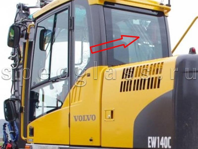 Стекло заднее для Volvo EW140C / EW160C / EW180C / EW140D / EW160D / EW180D / EC160DL / EC210CL / EC250DL