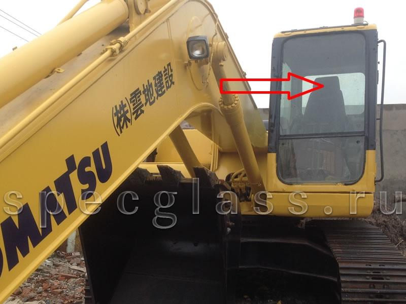 Стекло лобовое верхнее для Komatsu PC200-7 / PC220-7 / PC300-7 / PC400-7 / PC750-7 / PC800-7