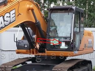 Стекло лобовое нижнее для Case CX210B