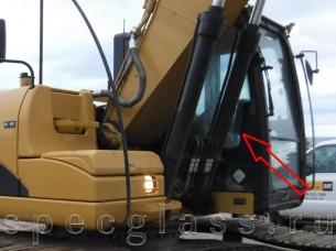 Стекло кузовное правое (возле стрелы) для Caterpillar 320DL / 324DL / 325DL / 319DLN / 320DLN / 320D / 312D2L / 329DL / 336DL