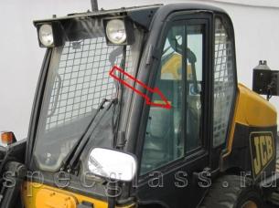 Стекло двери левое для JCB Robot 190