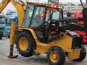 Стекло дверное верхнее правое для Caterpillar 428D / 432D