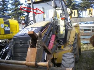 Стекло лобовое верхнее для Caterpillar 428D / 432D