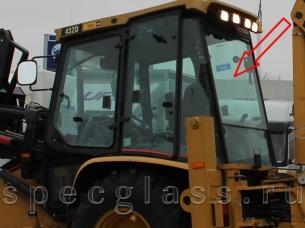 Стекло заднее верхние для Caterpillar 428D / 432D