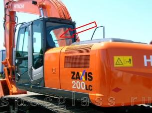 Стекло заднее для Hitachi ZAXIS ZX180 / ZX200 / ZX210 / ZX240 / ZX250 / ZX270 / ZX280 / ZX300 / ZX330 / ZX350 / ZX400 / ZX470 LC-3 - LCN-3