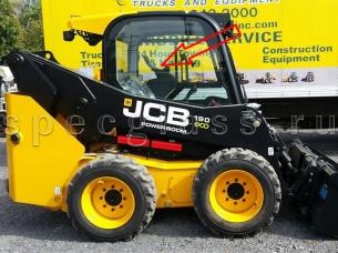 Стекло кузовное правое для JCB Robot 190