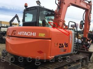 Стекло кузовное правое (возле стрелы) для Hitachi ZAXIS ZX70LC / ZX75LC