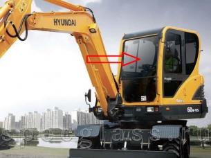 Стекло лобовое верхнее для Hyundai Robex 60W-9S