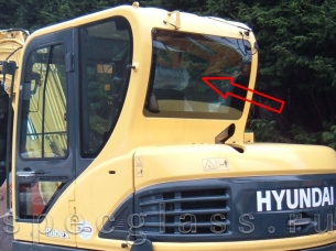 Стекло заднее для Hyundai Robex 60W-9S