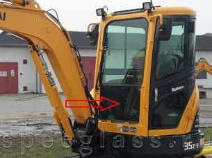 Стекло лобовое нижнее для Hyundai R35Z-9 / R27Z-9