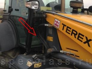 Стекло лобовое нижнее правое для Terex 760 / 820 / 860 / 880 / 970 / TLB825
