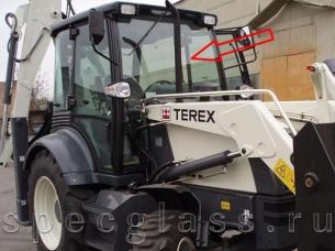 Стекло лобовое верхнее для Terex 760 / 820 / 860 / 880 / 970 / TLB825