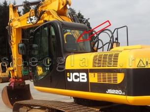 Стекло заднее для JCB JS160 / JS180 / JS200 / JS220 / JS330 2010- г.в.