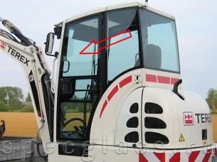 Стекло дверное верхнее левое для Terex TC35