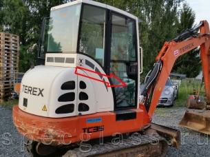 Стекло дверное нижнее правое для Terex TC35