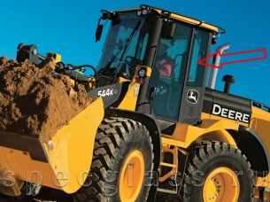 Стекло кузовное левое для John Deere 544K
