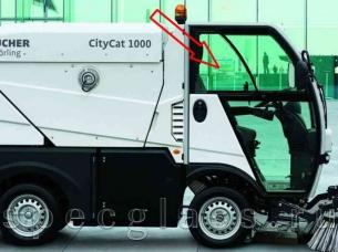 Стекло дверное правое (форточка) для Bucher CityCat 1000
