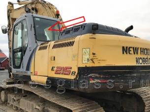 Стекло заднее для New Holland E215B