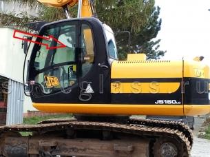 Сдвижная форточка для JCB JS160 / JS180 / JS200 / JS220 / JS330 2005- г.в.