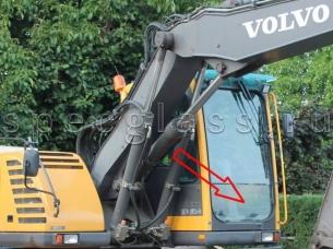 Стекло лобовое нижнее для Volvo EW140B / EW145B / EW160B / EW180B / EC180BLC / EC210BLC / EC240BLC / EC290BLC / EC460BLC